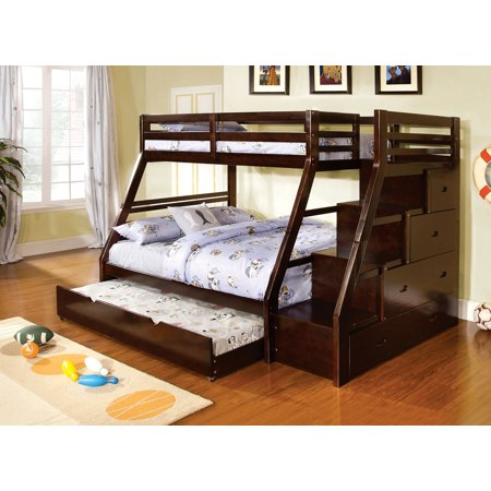 Furniture Of America Haiden Twin Bunk Bed With Staircase Drawers