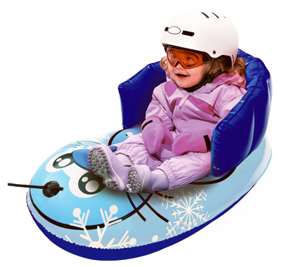 """Kids' Inflatable Pull Sled, Blue Seal, 33"""", Aqua Leisure"""