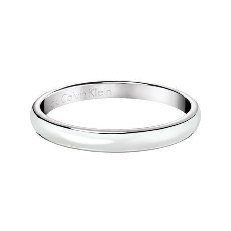 Calvin Klein  Women's Gloss Stainless Steel and Resin Fashion Bracelet (Available in Silver and Black)