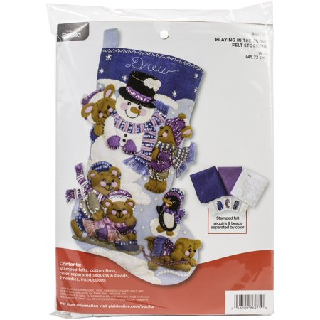 Bucilla Felt Stocking Applique Kit 18
