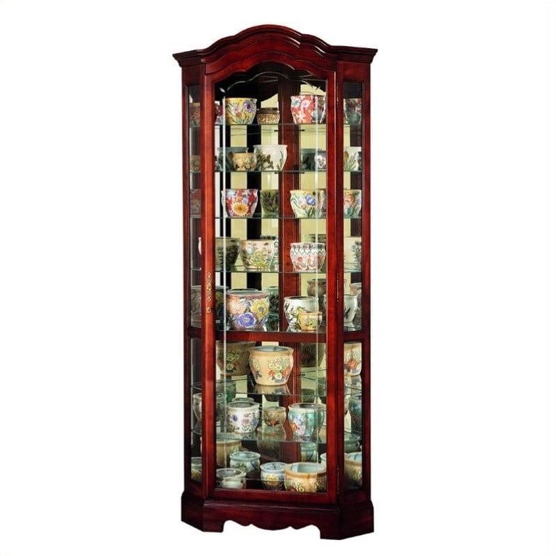 Howard Miller Jamestown Corner Display Curio Cabinet by Howard Miller