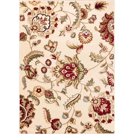 - Well Woven Barclay Ashley Oriental Modern Floral Ivory 3'11