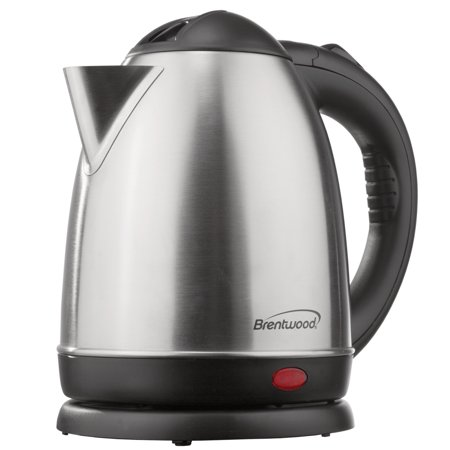 Brentwood KT-1780 1000W 1.5 Liter Stainless Steel Electric Cordless Tea