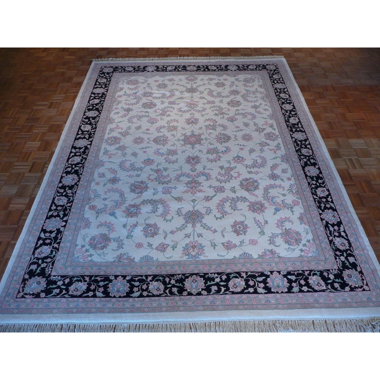 Oriental Rug Galaxy Kashan Oriental Ivory Kashan Wool Area Rug 9