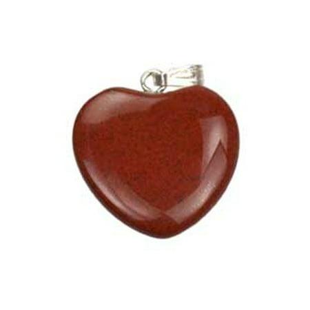 Red Jasper Tumbled Heart Gemstone Pendant Energy of