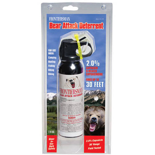 Frontiersman Bear Spray with Hip Holster Maximum Strength & 30' Range (7.9 oz)