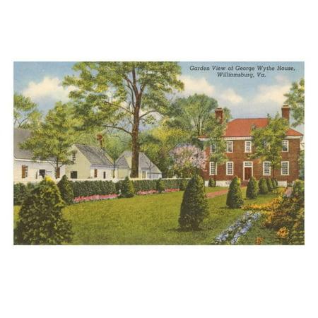 George Wythe House, Williamsburg, Virginia Print Wall Art (Wythe House)