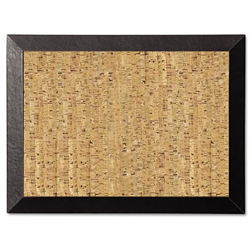"Bi-silque Kamashi Natural Cork Personal Board - 18"" Height X 24"" Width - Cork Surface - Black Wood Frame (sf0422581012)"