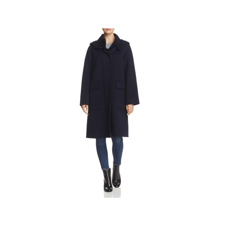 Theory Womens Winter Wool Cashmere Duffle Coat