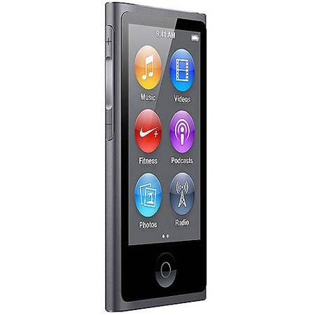 Apple iPod nano 16GB Refurbished, Space Gray - Walmart.com