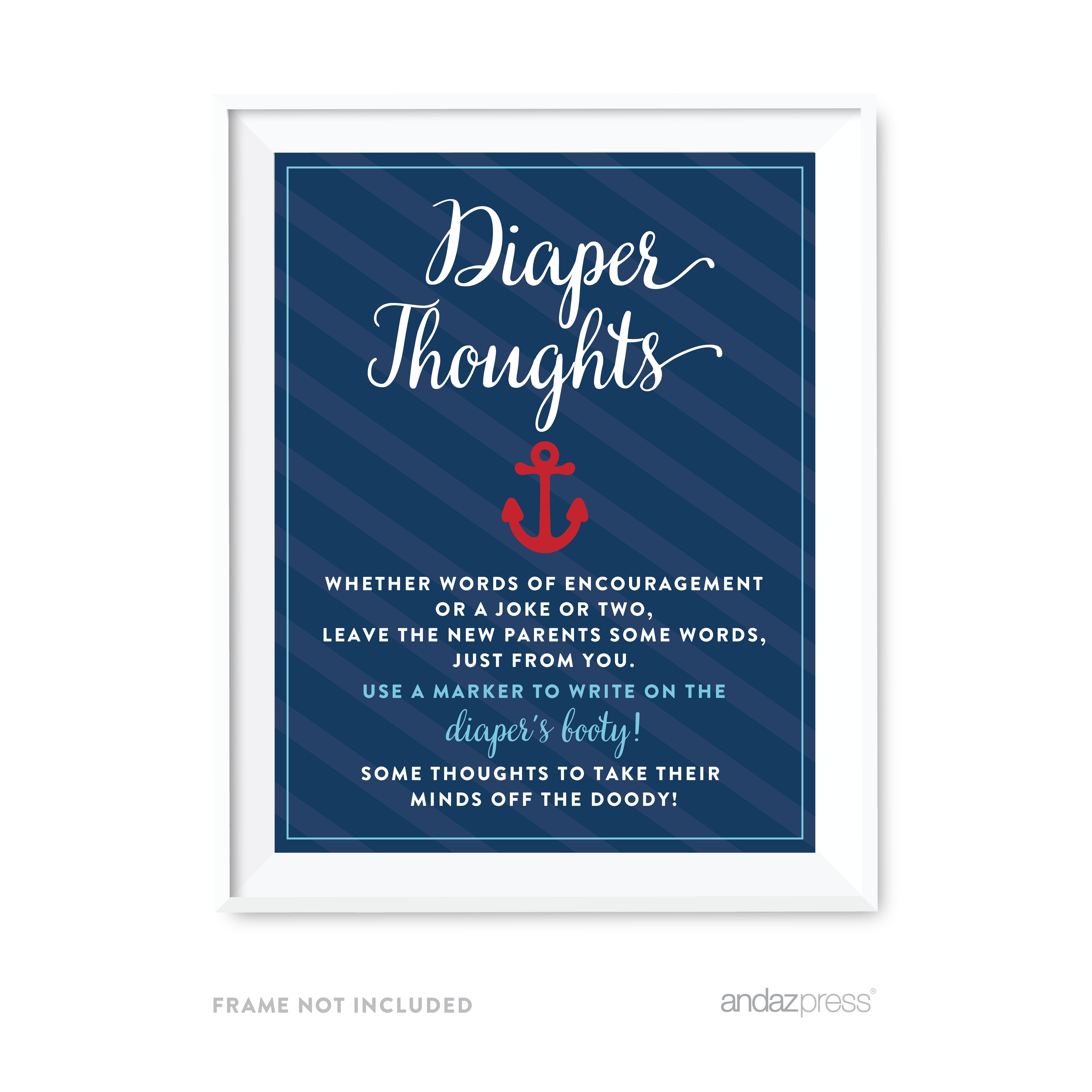 Diaper Thoughts Nautical Baby Shower Games & Fun Activities