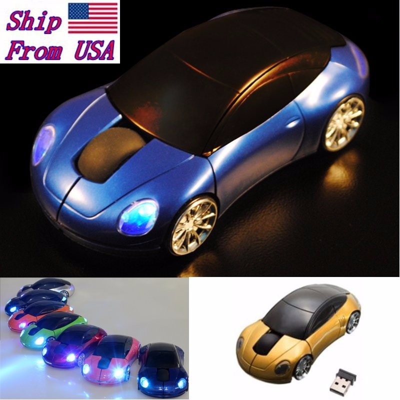 Black 2.4GHz Car Shape1600DPI Wireless Optical Mouse/Mice + USB 2.0 Receiver
