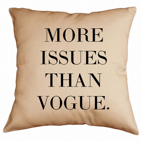 Retrospect Group More Issues Than Vogue Cotton Throw Pillow