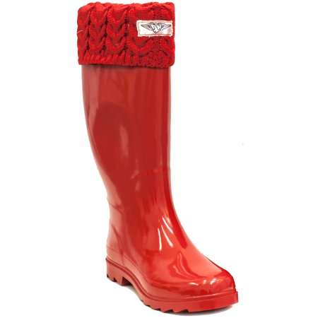 Women Rubber Rain Boots, Best Lined Boots for Rainy Day, Stylish Sock