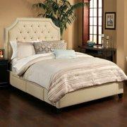 Seahawk Designs Audrey 4 Drawer Wheat Upholstered Platform Storage Bed