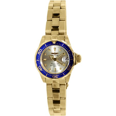 Invicta Women's Pro Diver 4610 Gold Stainless-Steel Plated Japanese Quartz Dress Watch (Invicta Gold Pro Diver)