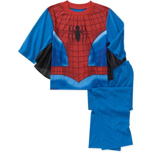 Marvel Boys' Spiderman 2 Piece Cape and Pant Pajama Set
