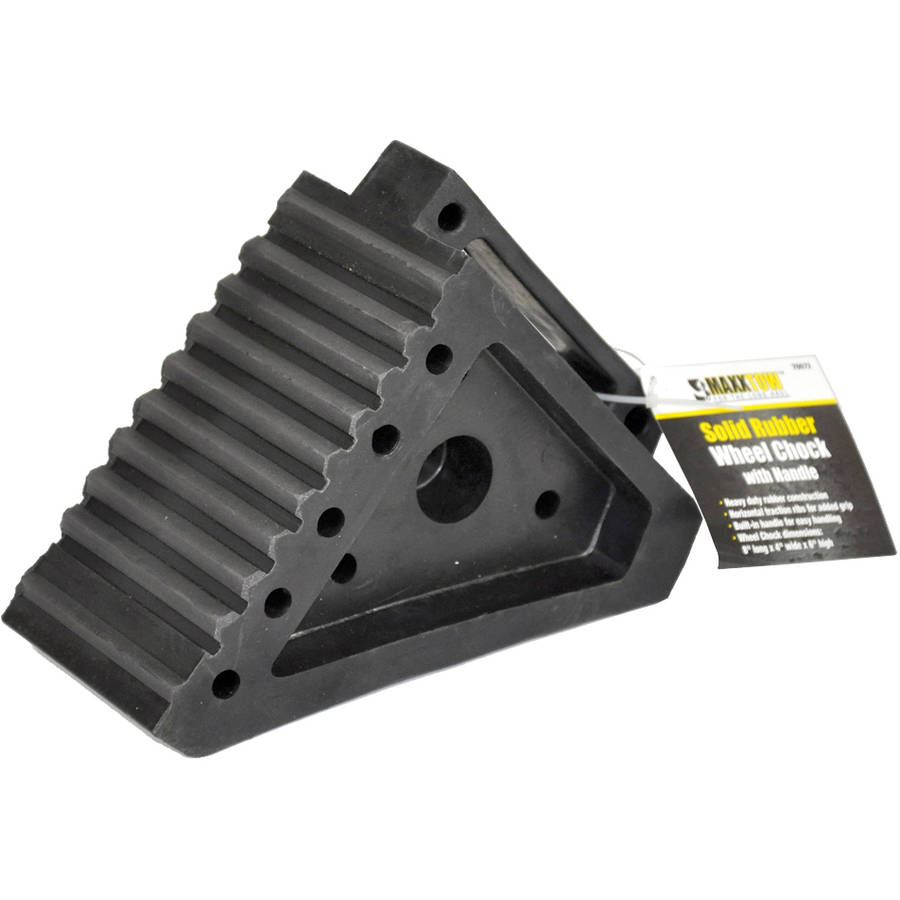 MaxxHaul Solid Rubber Wheel Chock