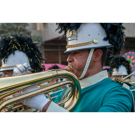 - Peel-n-Stick Poster of Musician Instrument Marching Trombone Sound Band Poster 24x16 Adhesive Sticker Poster Print