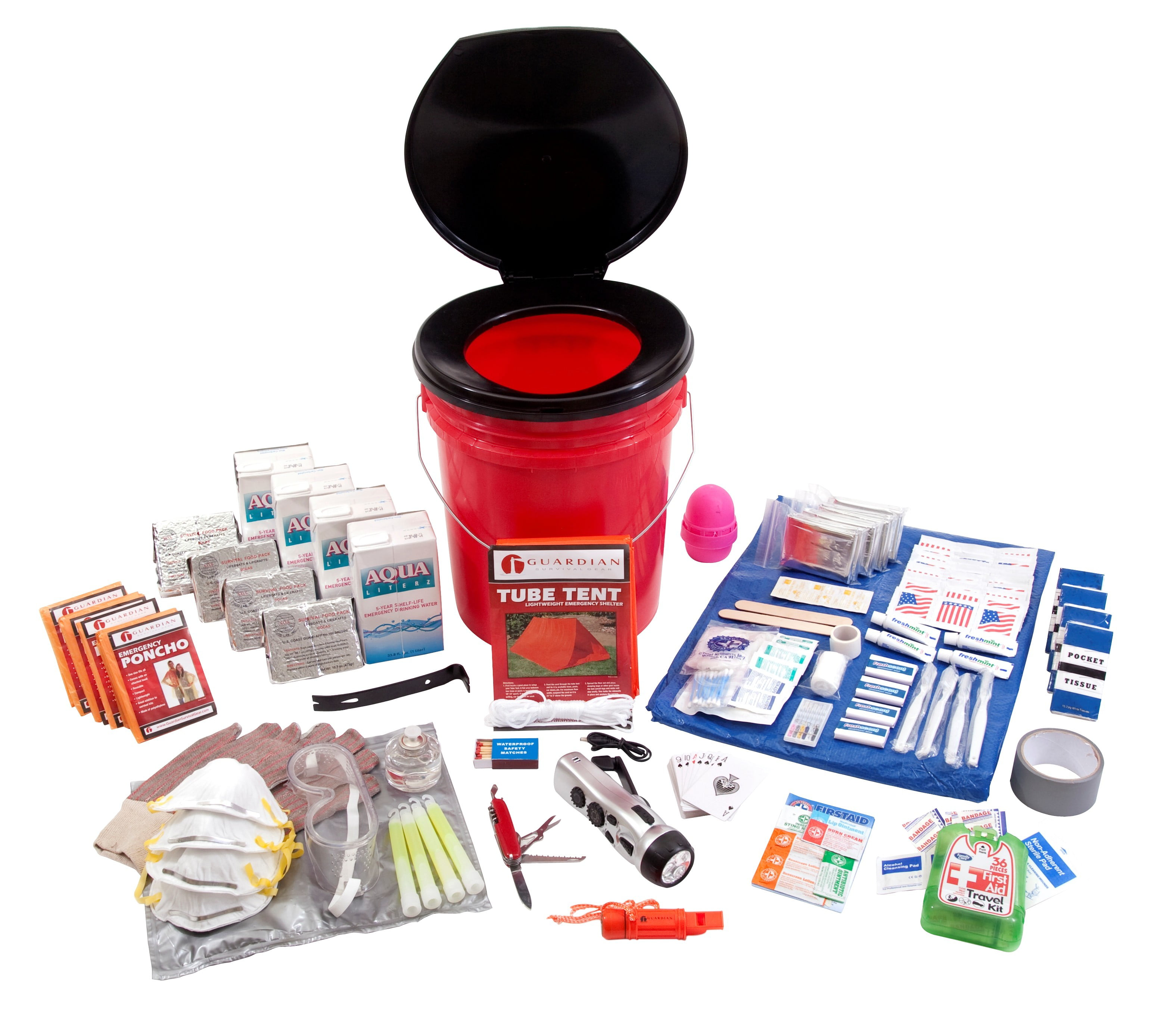 Guardian OK4P Bucket Survival Kit 4 Person by Guardian Survival Gear