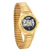 Riddles Group Mens Black Hills Gold Mt Rushmore Watch