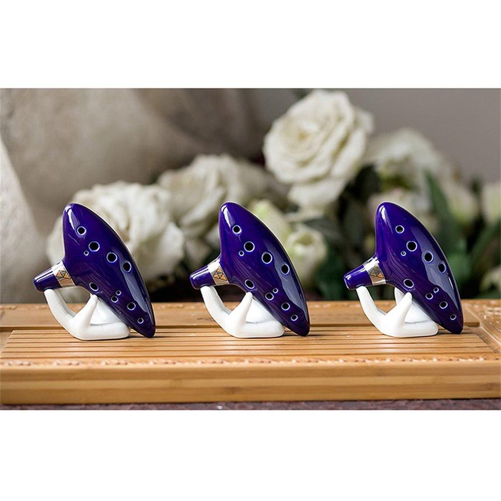 12 Hole Ocarina Ceramic Alto C Legend of Zelda Ocarina Flute Blue Instrument by LESHP