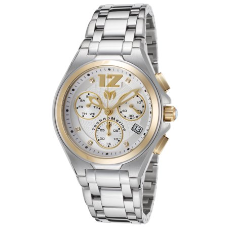 Technomarine Tm-215013 Men's Manta Neo Classic Chrono Ss Silver-Tone Dial Gold-Tone Accents Watch