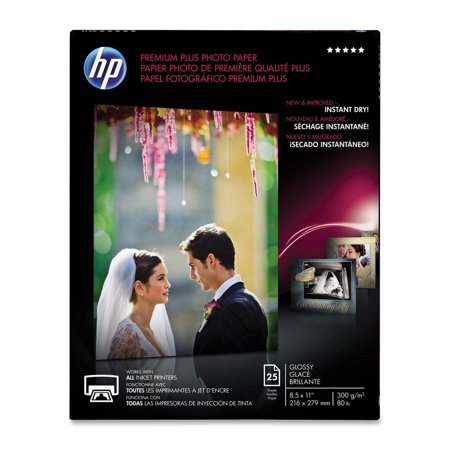 HP Premium Plus Photo Paper, Glossy, A, 25 Sheets (CR670A), Use HP's best photo paper for prints that make you proud. HP Premium Plus Photo Paper.., By Hewlett