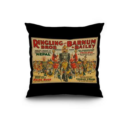 Ringling Bros and Barnum Bailey Nepal Frank Buck Vintage Poster USA c