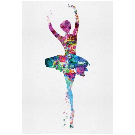 Ballerina Watercolor 1 Poster By Irina March - 13x19