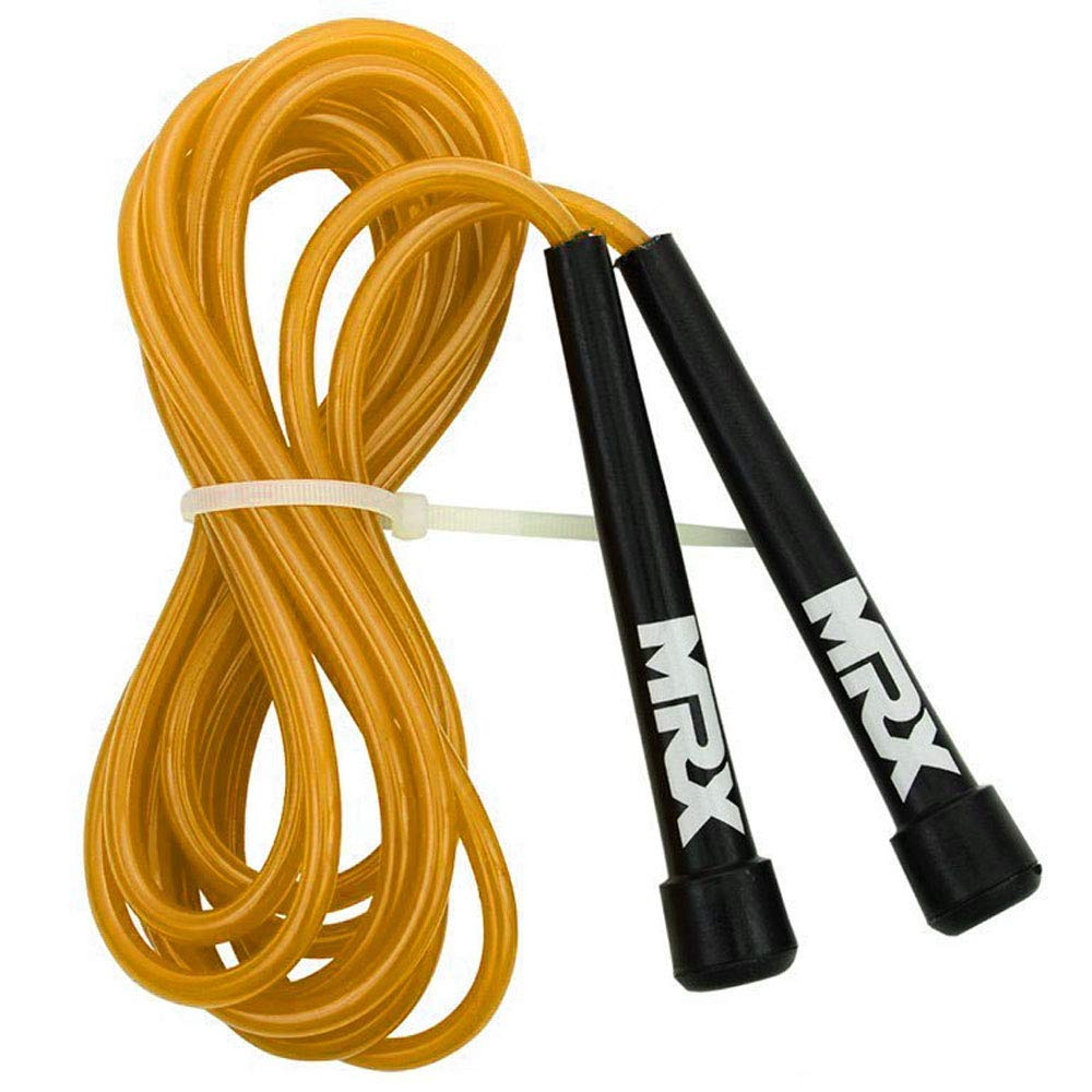 MRX 9' PVC Jump Rope for Cardio Fitness - Versatile Jump Rope for Both Kids and Adults - Great Jump Rope for Exercise (Black)