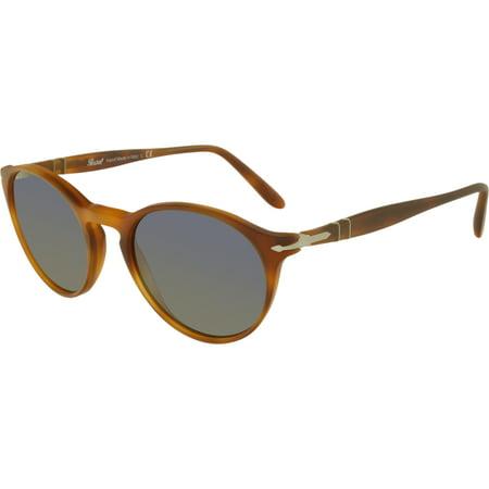 Persol Mirrored PO3092SM-900656-50 Orange Round Sunglasses
