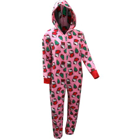 Hello Kitty Christmas Hooded Onesie Pajama (Hello Kitty For Adults)