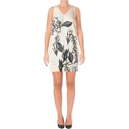 Stone Dress Clip - Guess Womens Chiffon Floral Print Slip Dress Tan XS