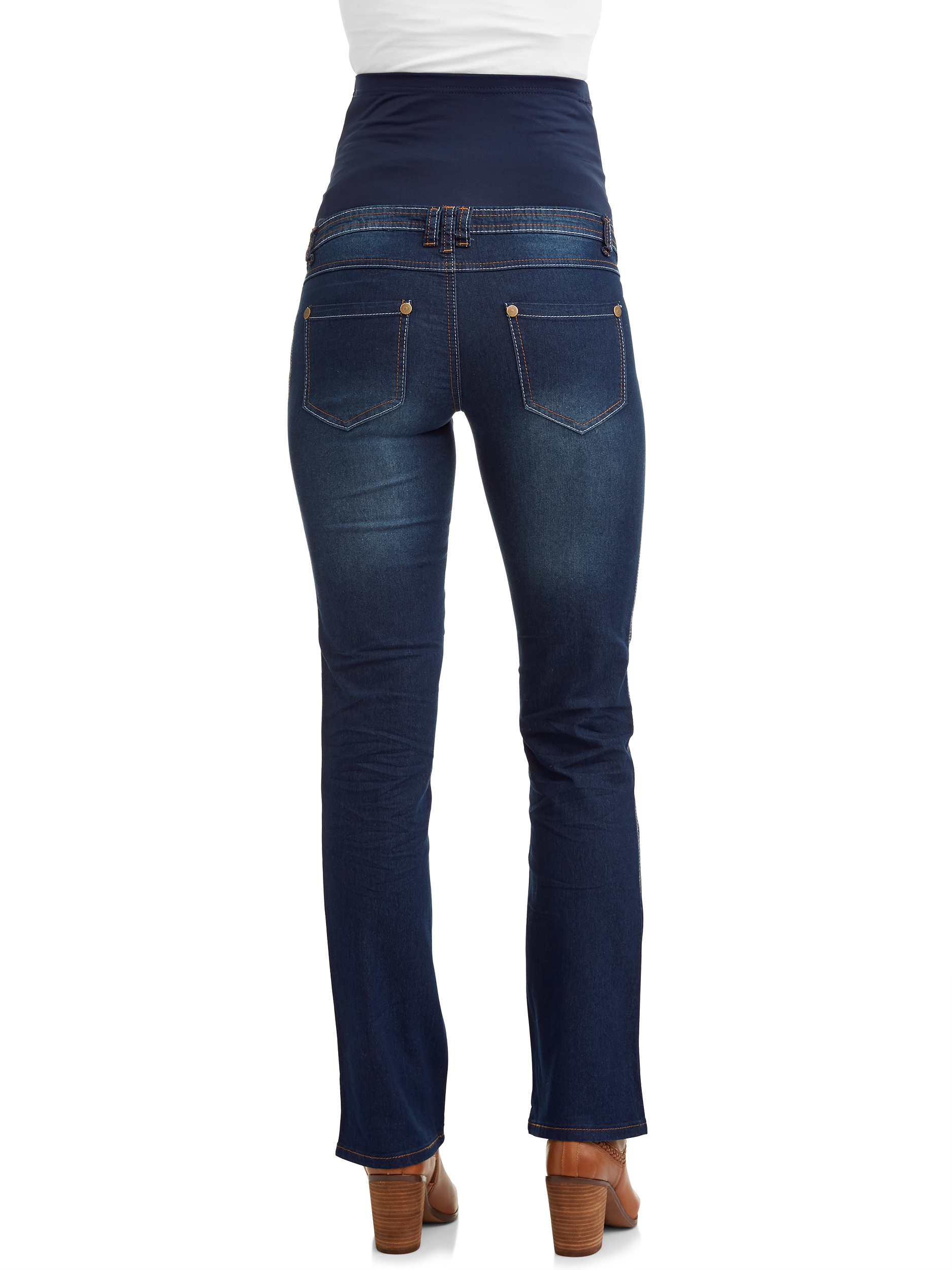 b05e89c4612d2 Oh! Mamma - Maternity Full Panel Super Soft Bootcut Jeans - Available in Plus  Sizes - Walmart.com