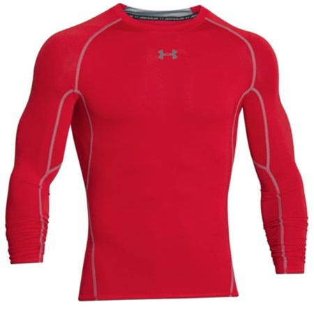 Under armour 1257471 men 39 s red armour heatgear long sleeve for Under armour shirts at walmart