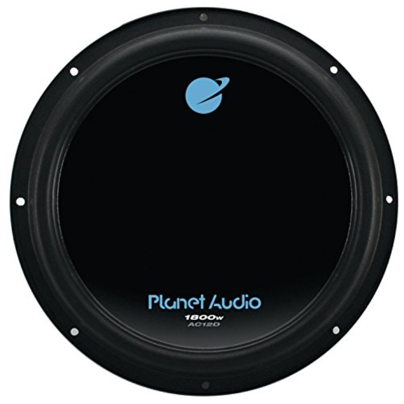 Planet Audio 12 Inch 1800W Car Audio Power Single Subwoofer DVC 4 Ohm | AC12D
