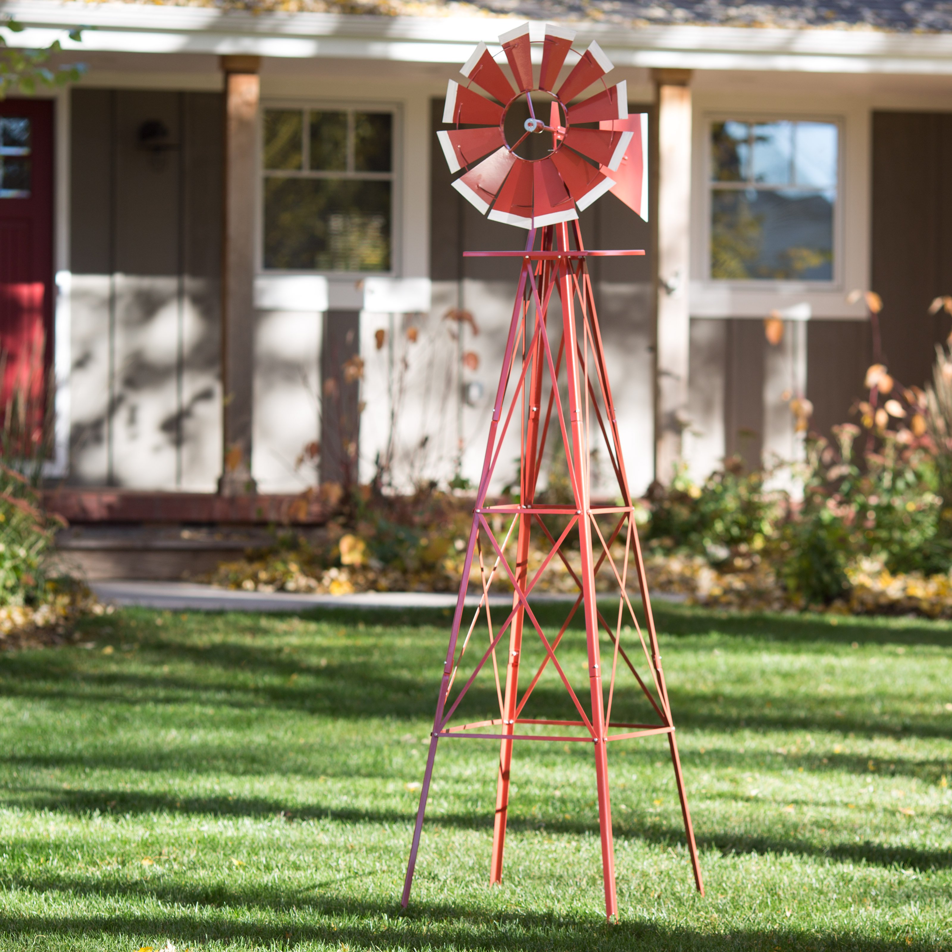 SMV Industries 8 ft. Windmill - Red and White