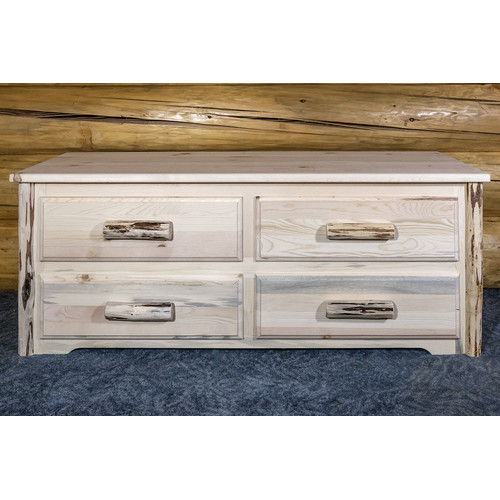 Montana Woodworks Montana Sitting Chest, 4 Drawer