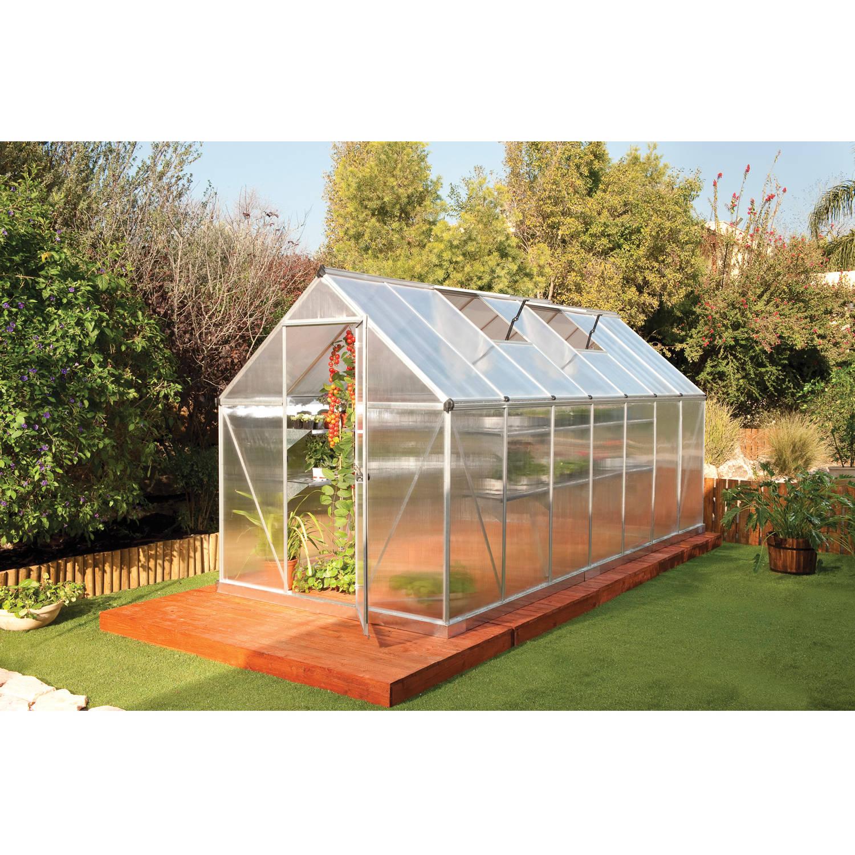 Palram Mythos Greenhouse, 6' x 14', Silver