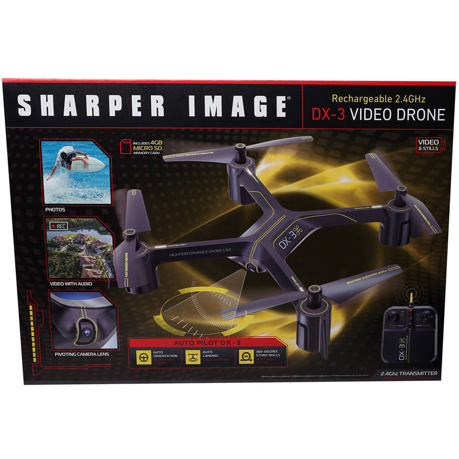 Sharper Image Dx 3 144 Large Drone With Camera Walmartcom