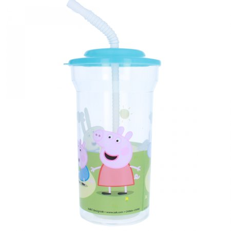 Nick Jr - Peppa Pig 16 oz Sports Tumbler with Lid and Straw