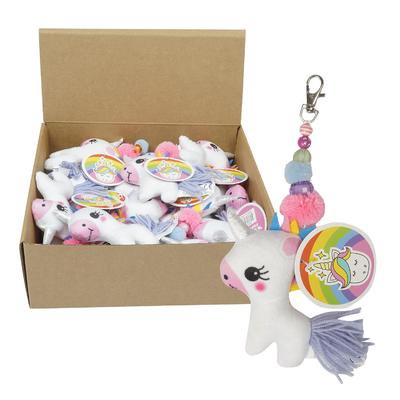 Wholesale Keychains Bulk (New 214223  Keychain Plush Unicorn (24-Pack) Cheap Wholesale Discount Bulk Apparles. Acne)