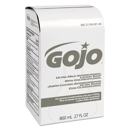 GOJO Industries 9212-12 Ultra Mild Lotion Soap W/chloroxylenol Refill, Floral Balsam, 800ml, - Ultra Mild Lotion Soap