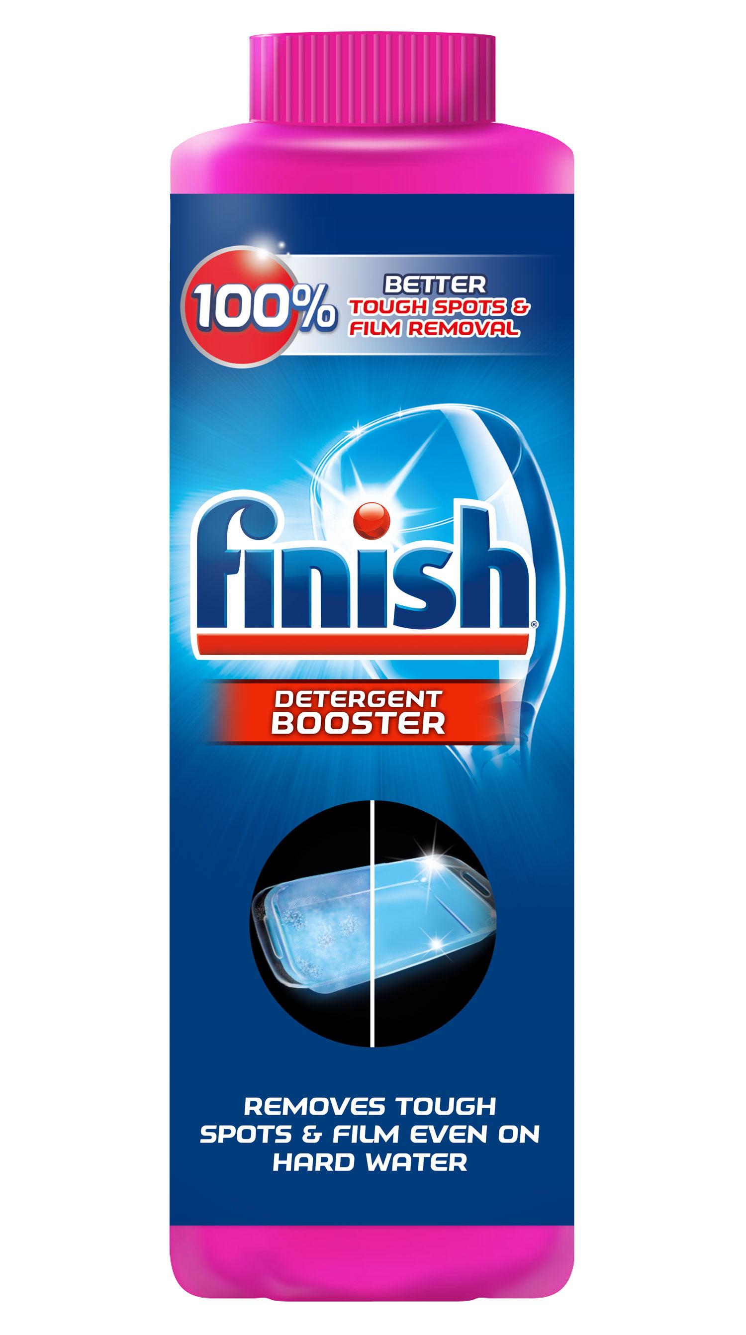 Finish Hard Water Booster Powder, Lemon Sparkle, 14oz - Walmart.com