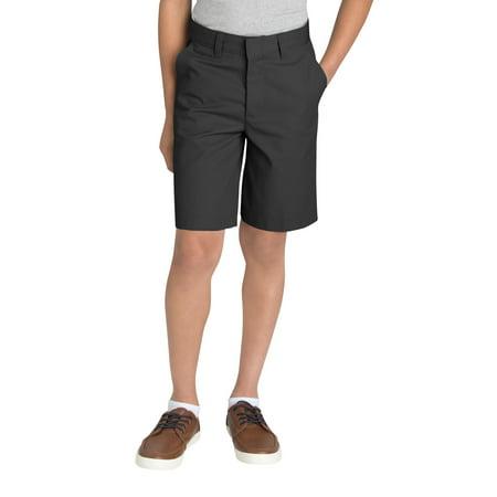 Genuine Dickies Husky Boys School Uniform Flex Waist Flat Front Short