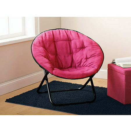 mainstays microsuede saucer chair multiple colors