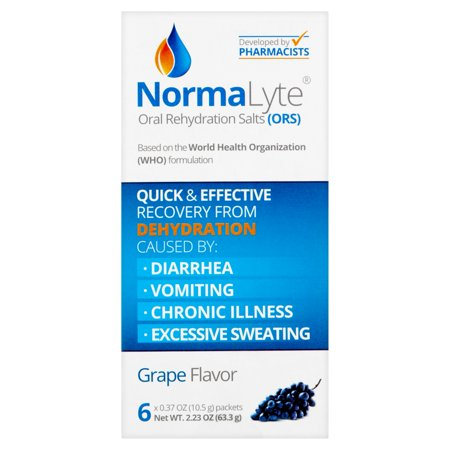 NormaLyte Grape Flavor Oral Rehydration Salts (ORS), 0.37 oz, 6 count