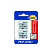 staedtler metal sharpeners, double hole for pencils and colored pencils 2 ea, 510 20bk2