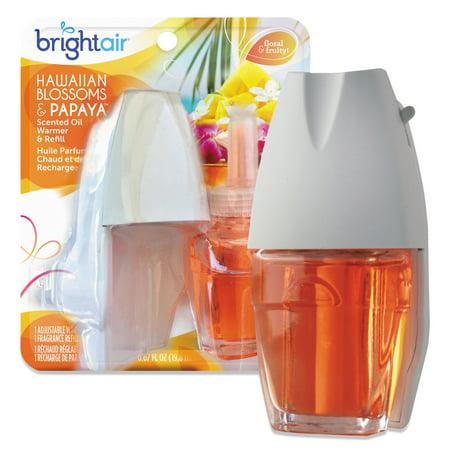 Bright Air Electric Scented Oil Air Freshener Warmer & Refill, Hawaiian Blossoms & Papaya ()